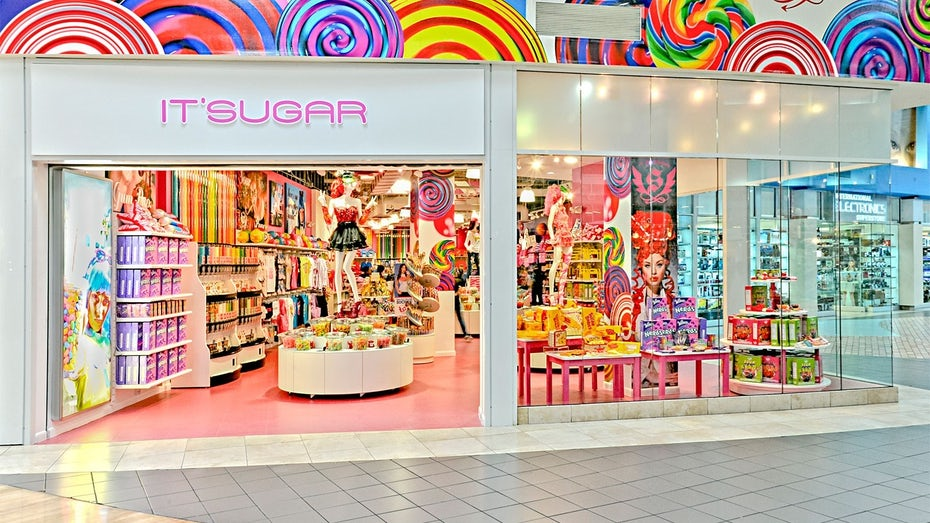 colorful candy store exterior