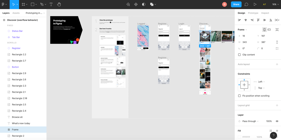 Figma user interface example