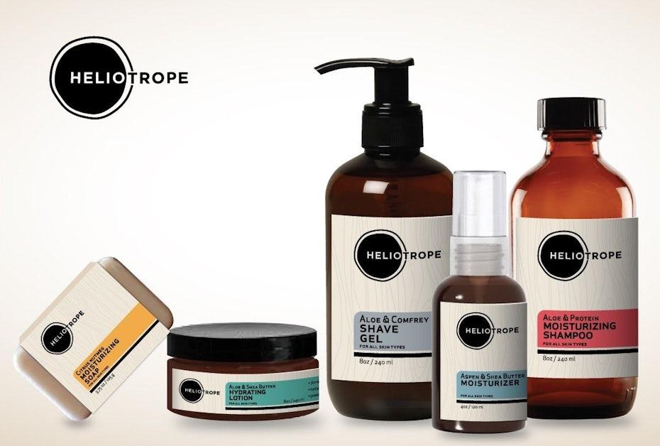 Labels for natural skin care line