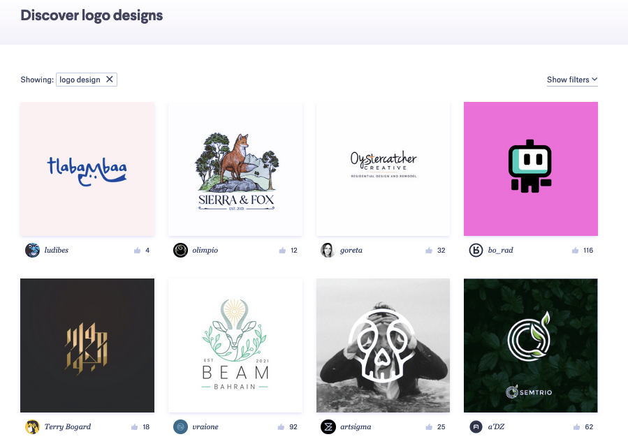 Screenshot of 99designs for Fiverr vs Upwork comparison