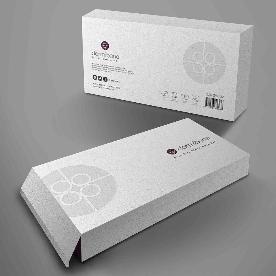 silk sleep mask packaging