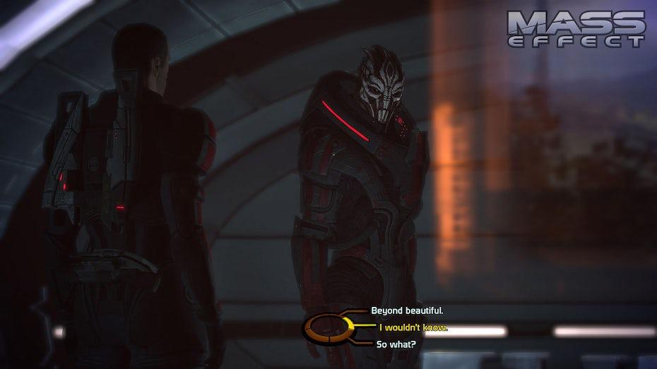 Screenshot of Mass Effect dialogue tree