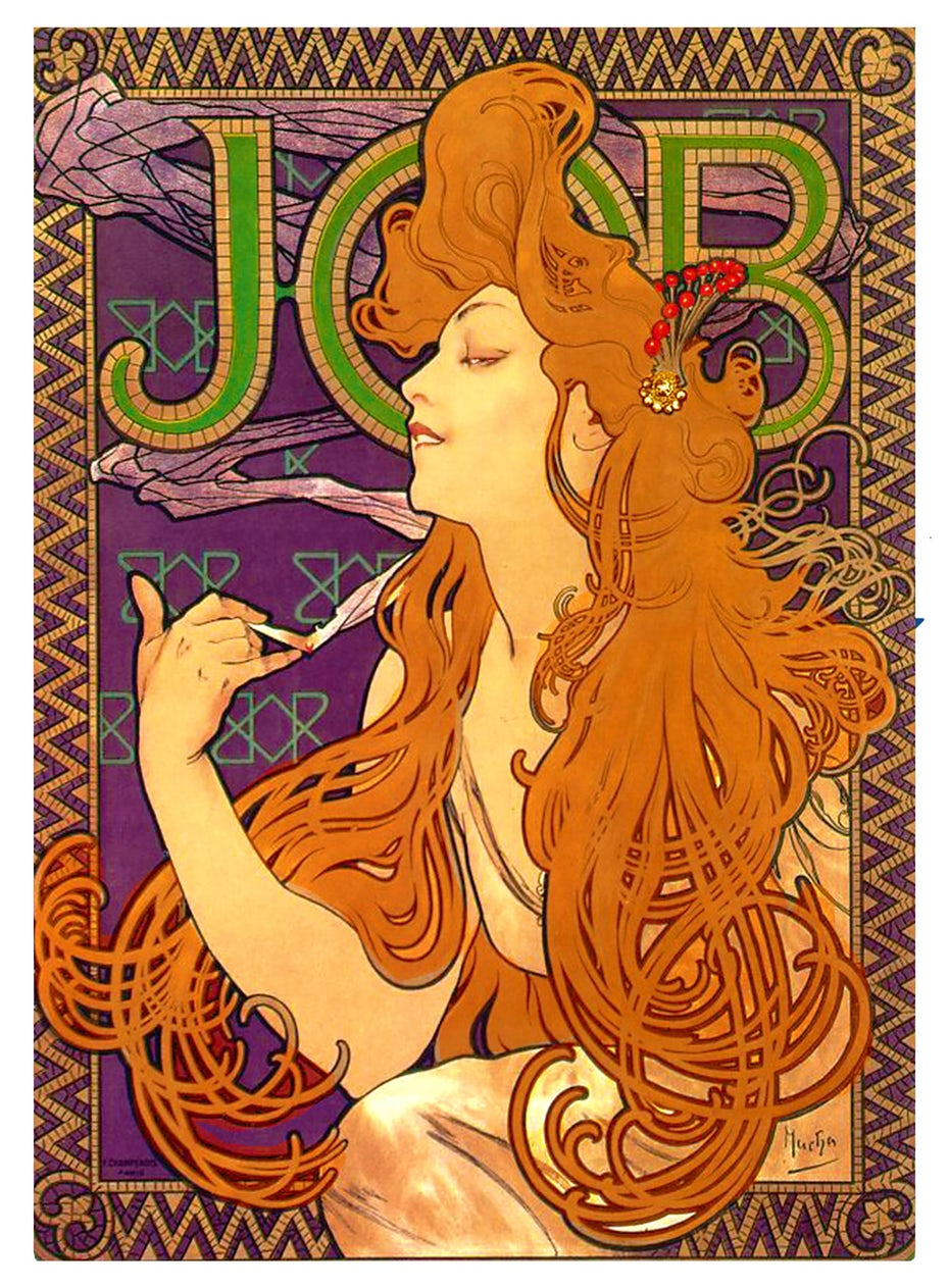 Japanese influenced Art Nouveau poster by Alphonse Mucha