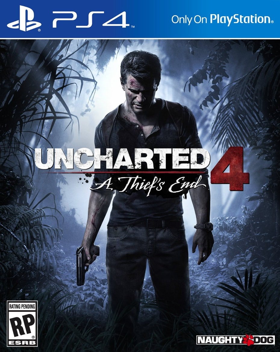 Uncharted 4 box art and logo