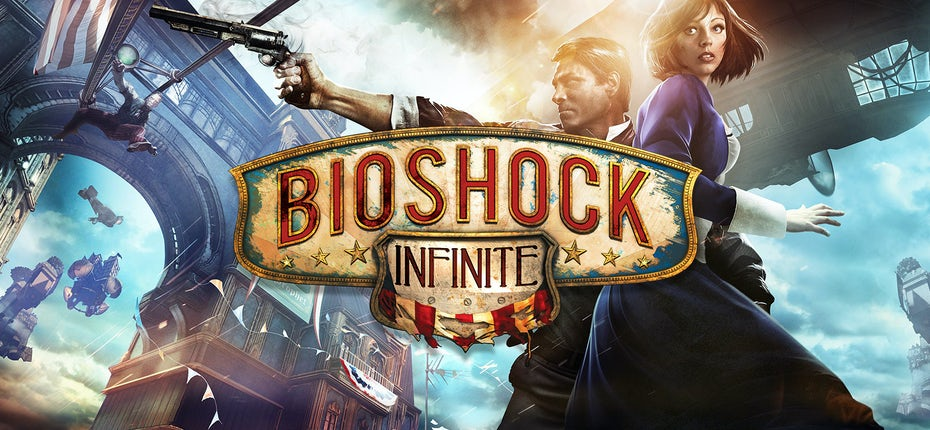 Cover art and logo for Bioshock Infinite
