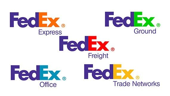 collection of FedEx logos