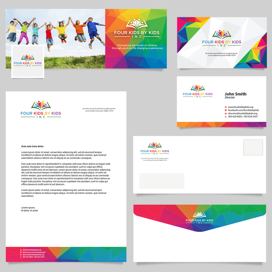 brand identity pack with stationery, business cards and other assets