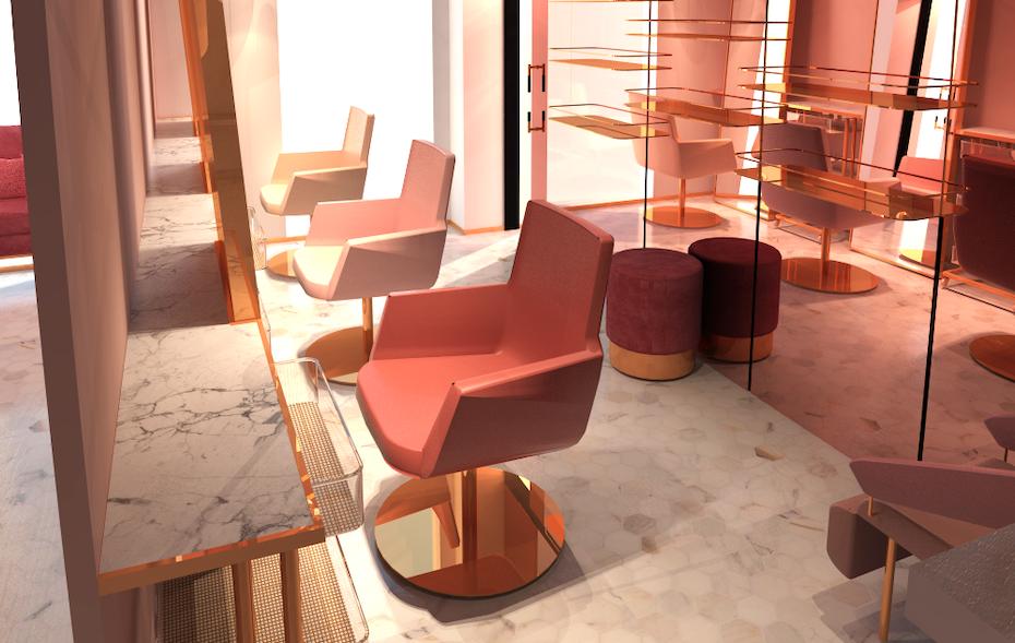 Pink Confessions salon decor