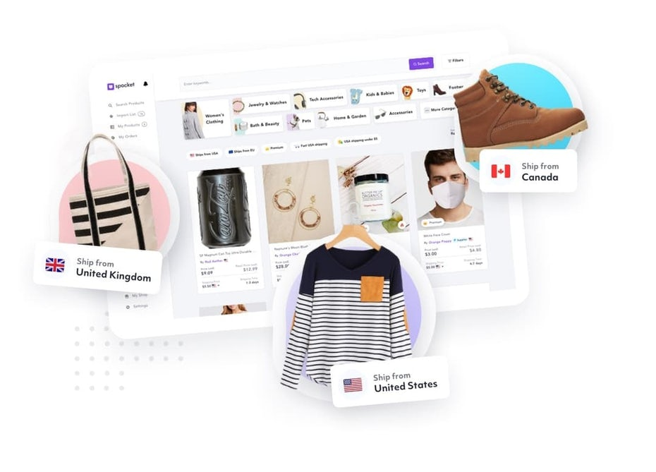 online business ideas example: dropshipping ecommerce