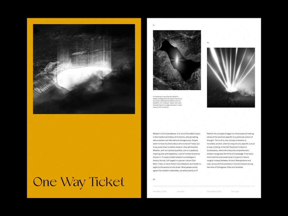Brutalist magazine layout design