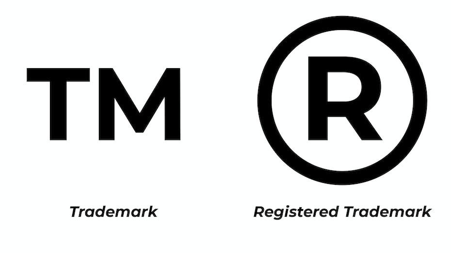 Trademark and Registered Trademark insignias