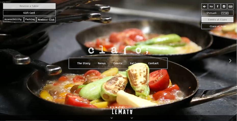 screenshot of Claro's website