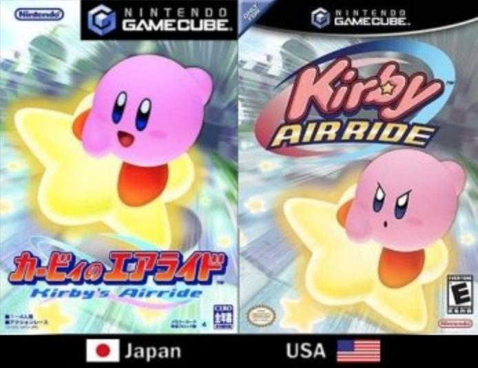 Japanese and American Kirby box art