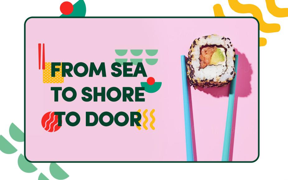 colorful sushi website design
