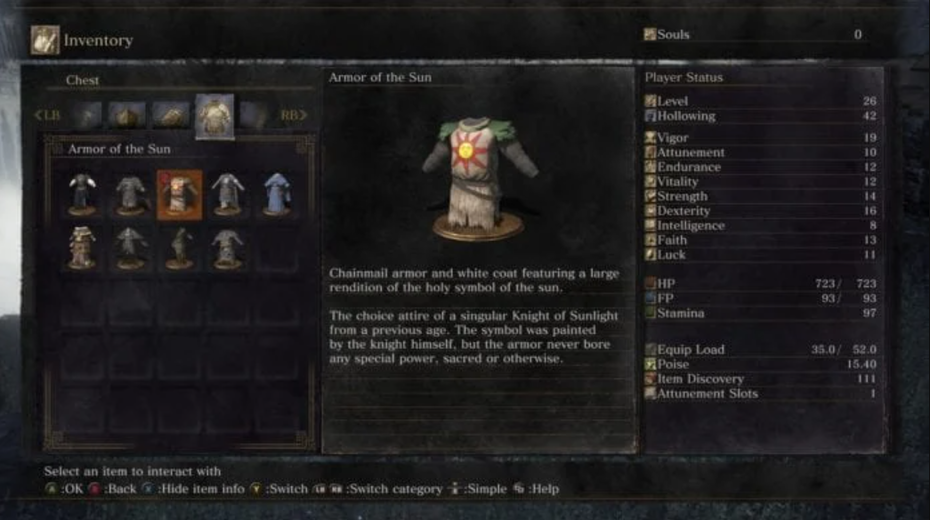 Dark Souls item description screenshot