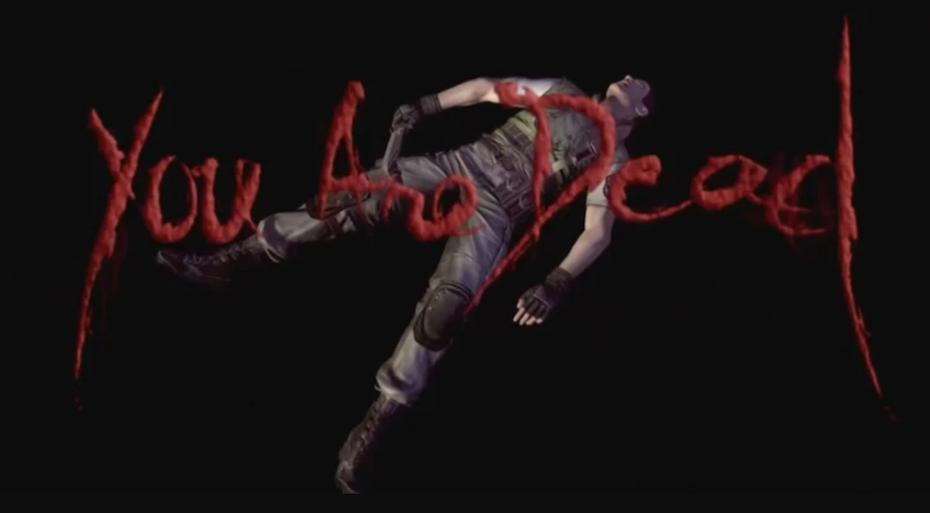 Resident Evil game over screen