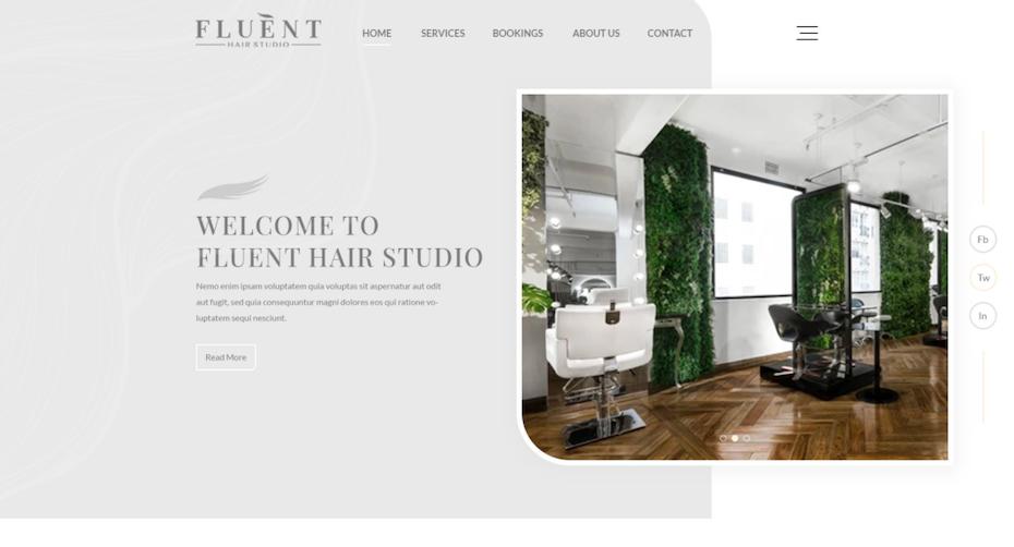 Fluent Hair Studio website