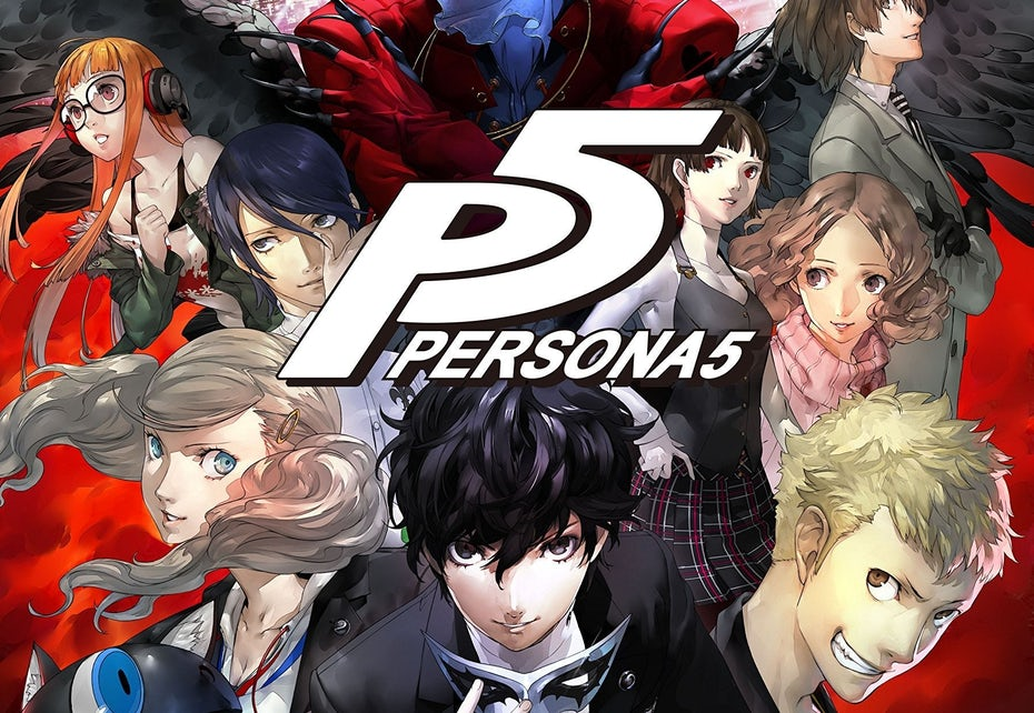 Persona 5 logo and cover art