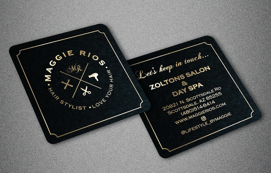Zoltons Salon and Day Spa Business Card
