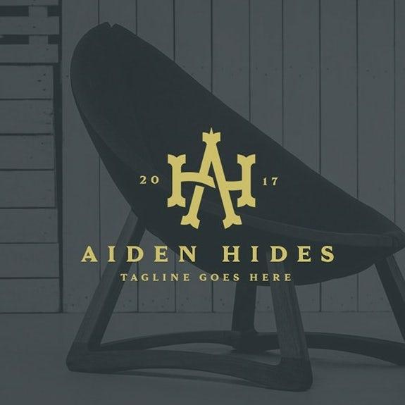 Monogram logo design for furniture company