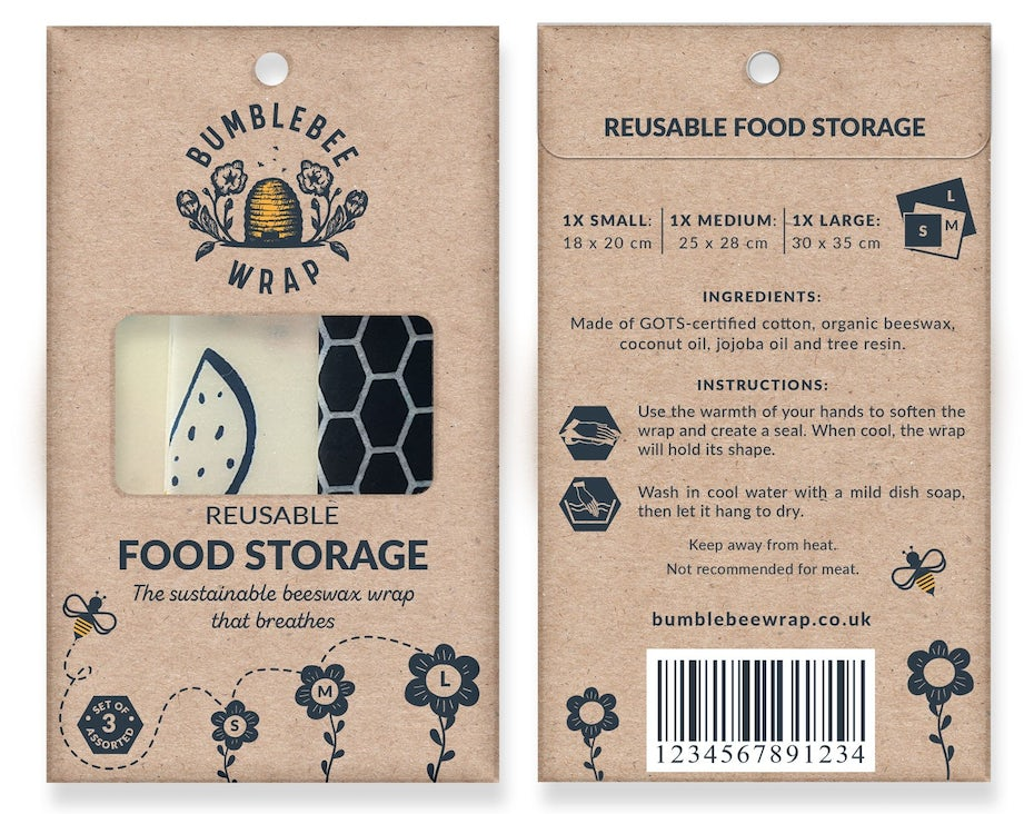 beeswax food cover packaging