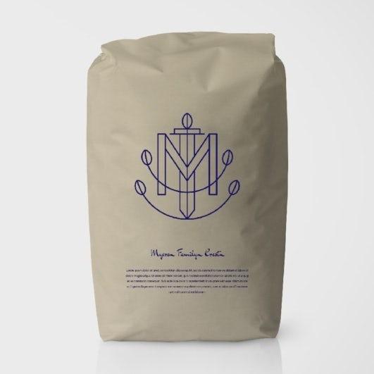 Logo design mockup for coffee brand