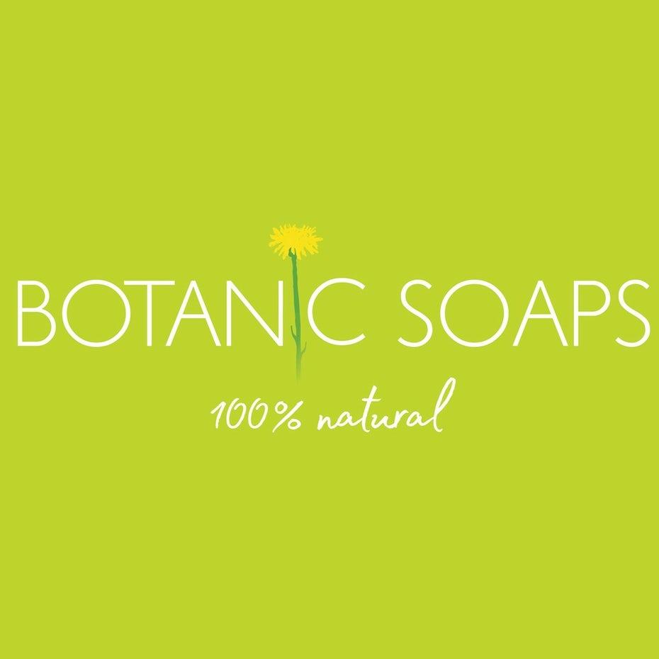 light green logo for natural soaps