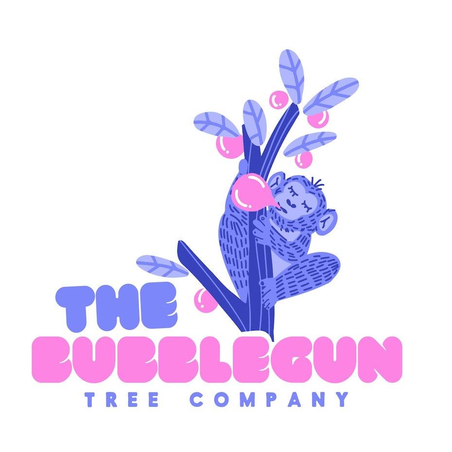 Logodesign für Gaugummimarke