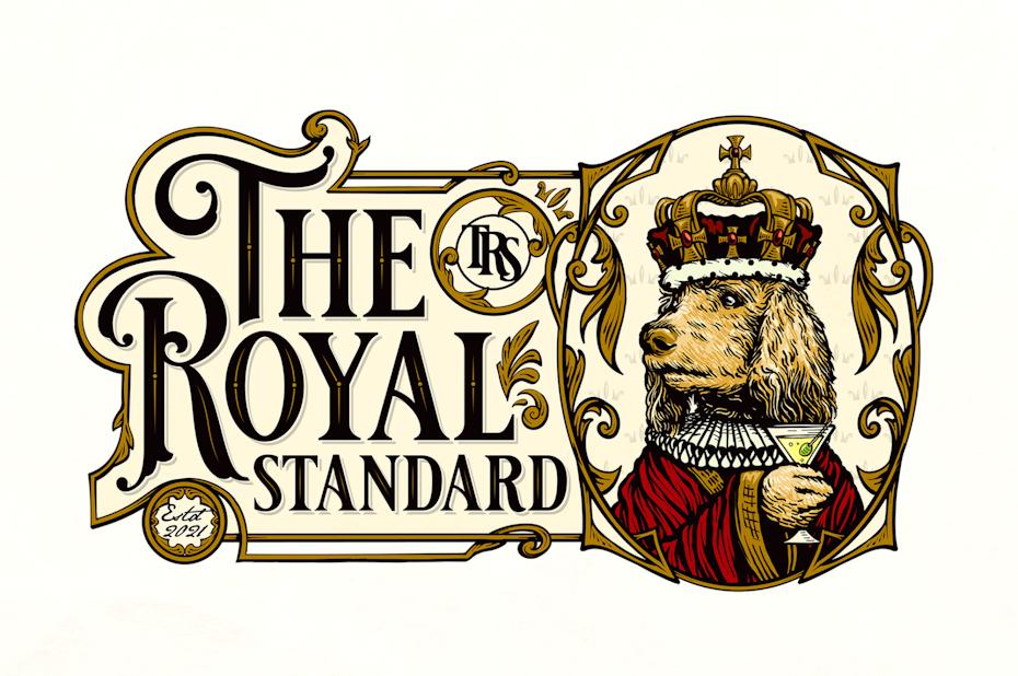 Ornamental framed vintage style logo design