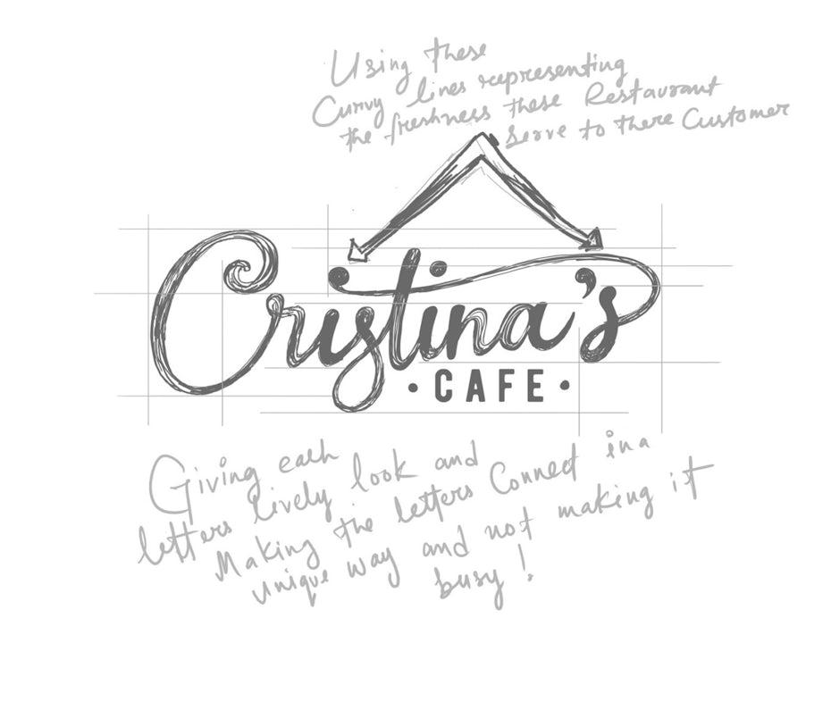 Hand-lettered wordmark logo design