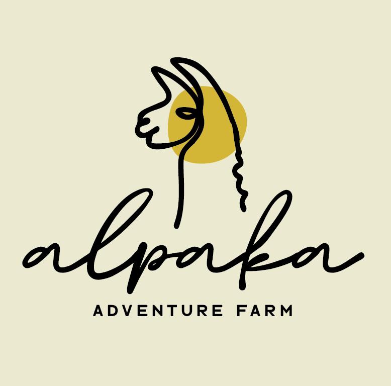 Logodesign für alpaka adventure farm