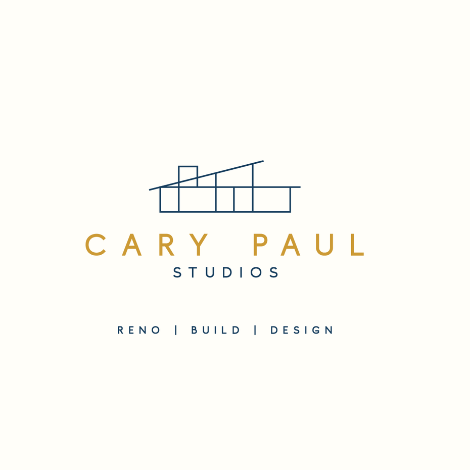 minimalist logo of a modern home against pastel backgrounds