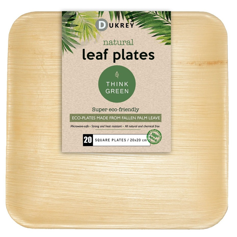 bamboo plates in a package