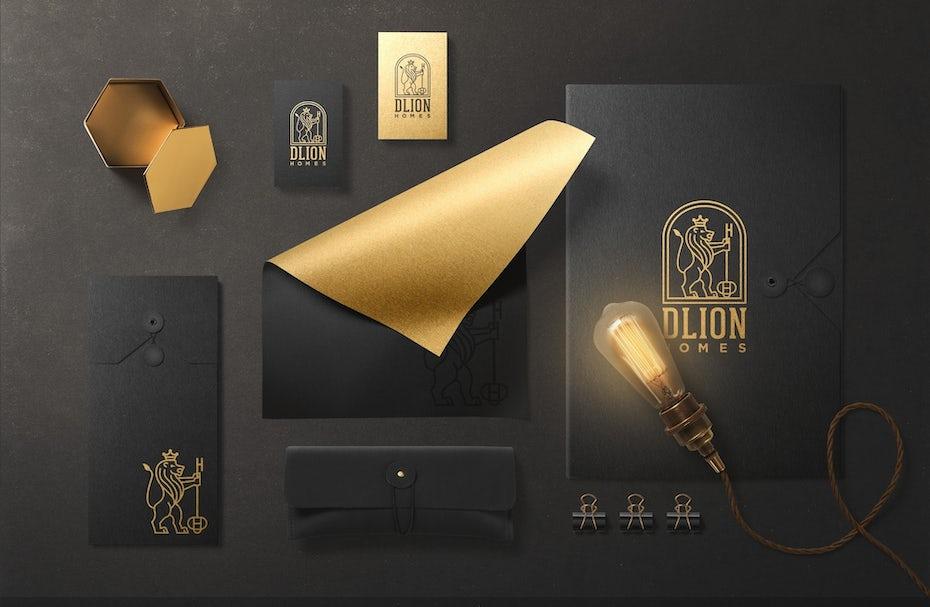 Logo design and mockup for realtor