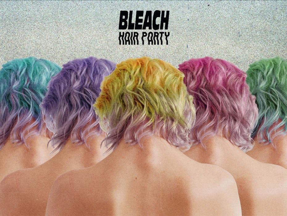 Bleach London hair party invitation