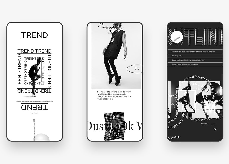 Brutalist app design