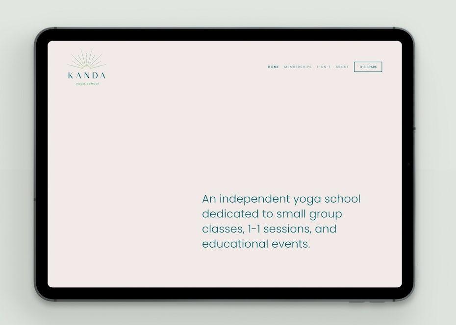 Minimalist typography-based web design