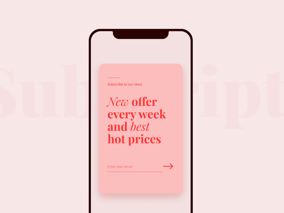 Mobile pop-up window design