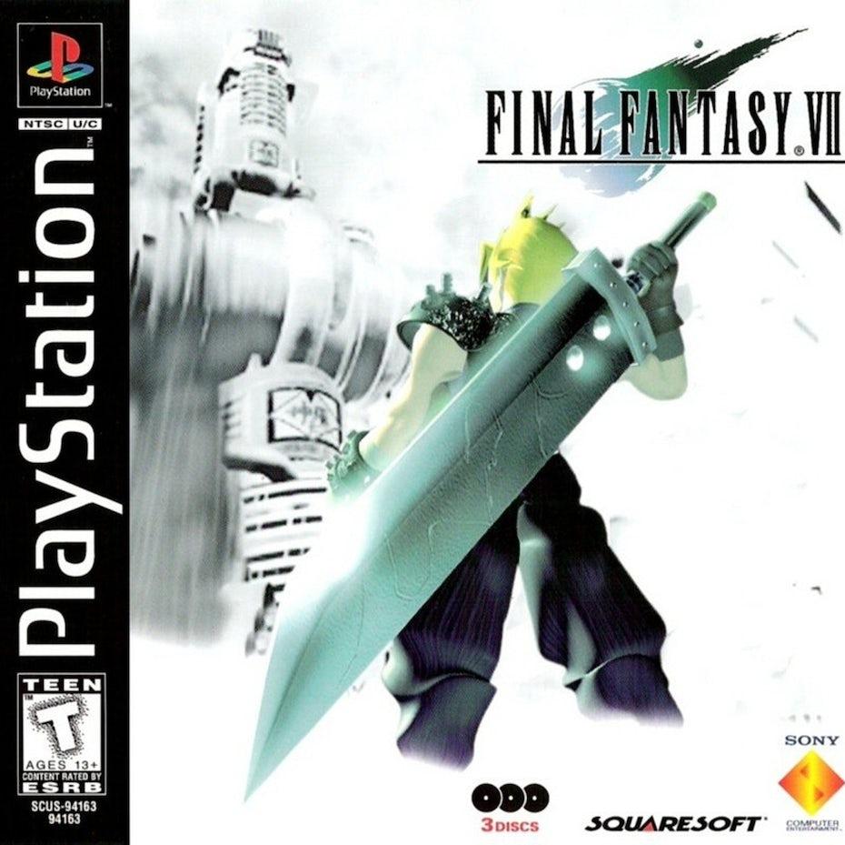 Final Fantasy VII box art and logo