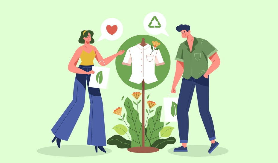 two people buying sustainably sourced products