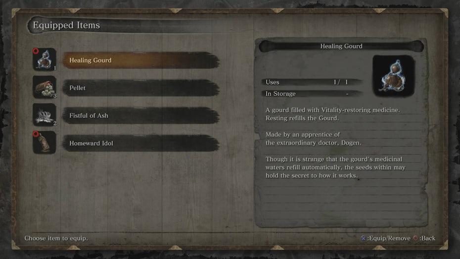 Sekiro item description screenshot