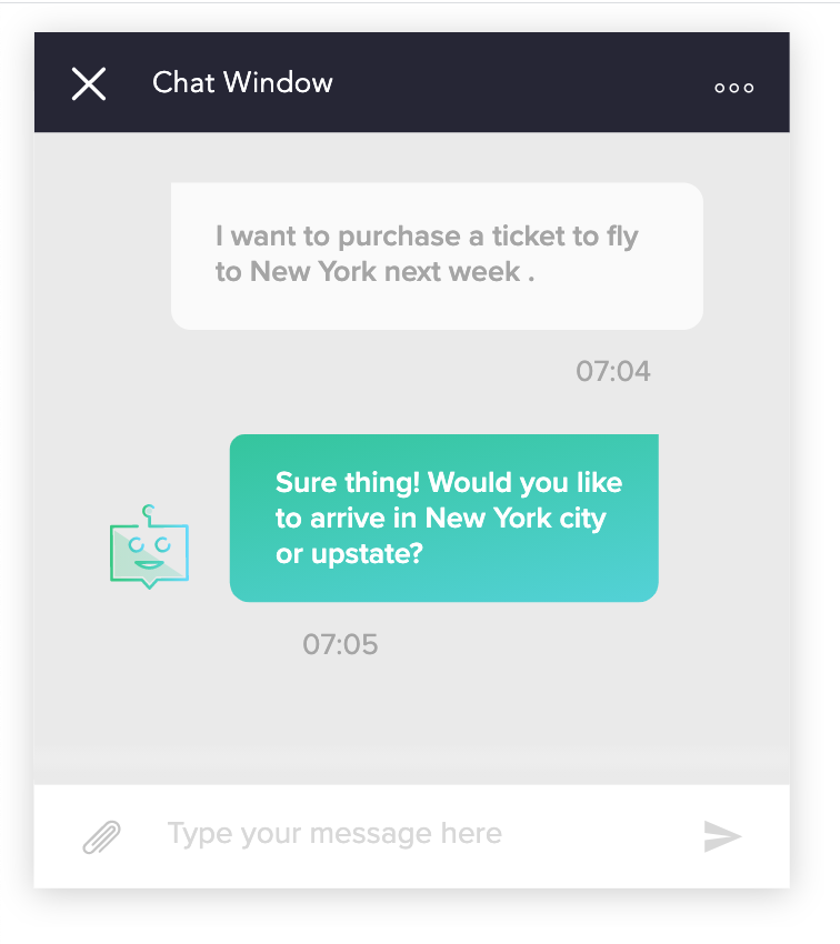 example of a chat-box window