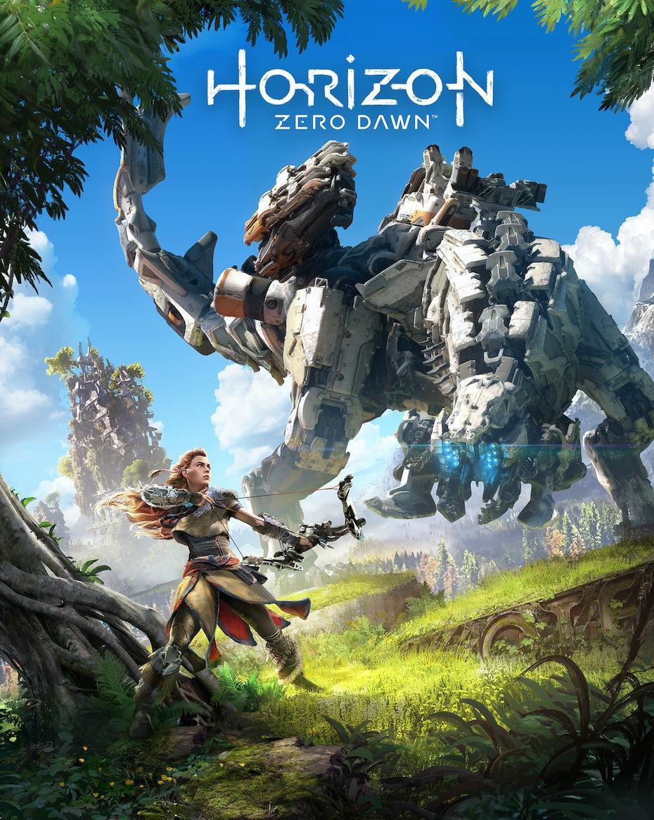 Horizon Zero Dawn box art and logo