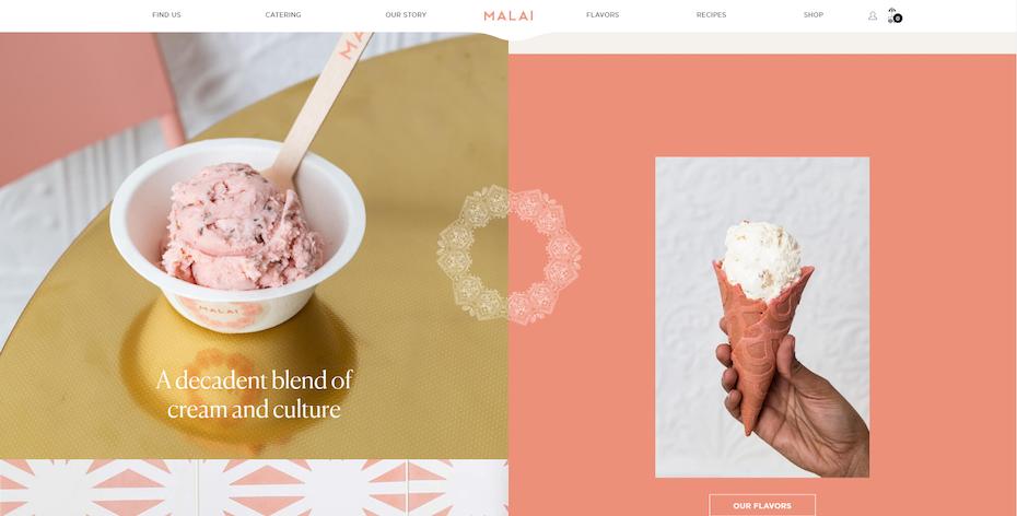 screenshot of Malai's website