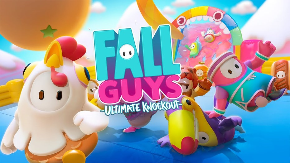 Fall Guys logo and cover art
