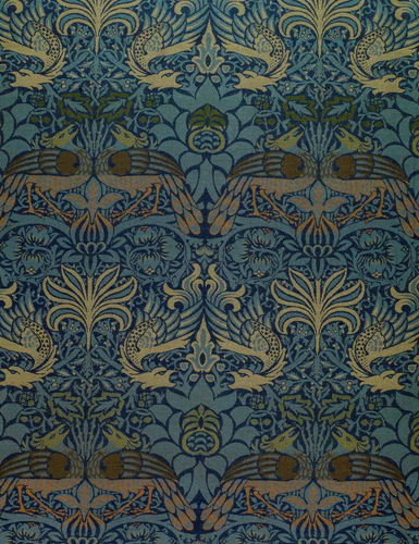 """Fabric design """"Peacock and Dragon"""" by William Morris"""
