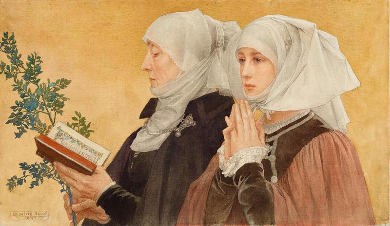 Les Rameaux (Palm Sunday) 1897 by Élisabeth Sonrel