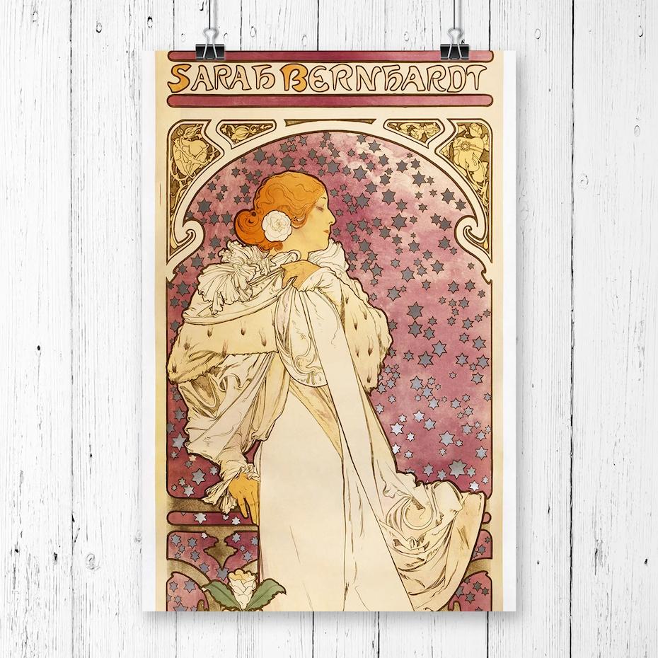 La Dame Aux Camelias' by Alphonse Mucha