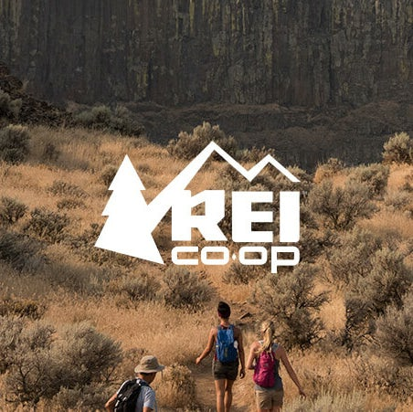 filtered photo of outdoors with REI logo