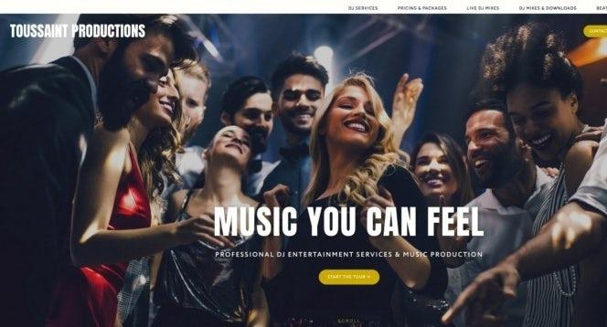 Photographic homepage web design